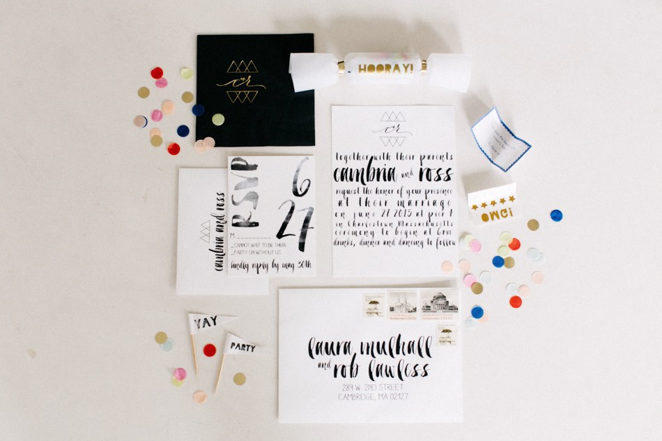 clean modern wedding invitations